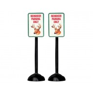"""Reindeer Parking Only"" Sign, Set of 2"
