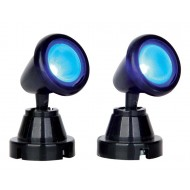 Round Spot Light, Blue, Set of 2, B/O