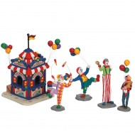 CARNIVAL TICKET BOOTH WITH FIGURINES, SET/5