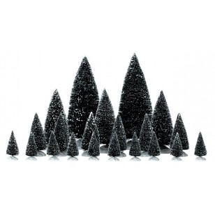Pine Trees, Assorted Sizes, Set of 21