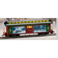 Thomas Kinkade Christmas Express Silent Night Baggage Car