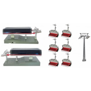 Uni G Station with 6 Red Six Seater Chairs with 16cm Tower,  Requires Adapter JC-52080US for Power