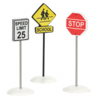 City Signs, Set of 3, Retired, MSRP $9