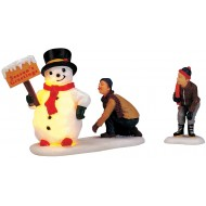 Lighted Frosty's Friendly Greeting, Set of 2