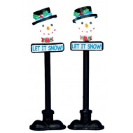 Snowman Street Lamp, Set of 2