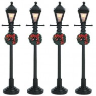 Gas Lantern Street Lamp, Set of 4