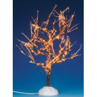 Lighted Ice Glazed Tree, Clear Lights, 9 inch
