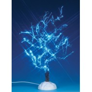 Lighted Ice Glazed Tree, Blue Lights, 9 inch