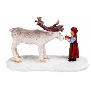 Jolyene Feeds a Reindeer