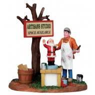 Painting Wooden Santas