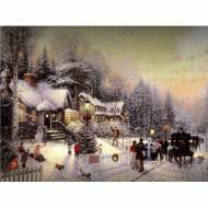 Busy Holiday Street, Lighted Print