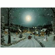 Winter Night, Lighted Print