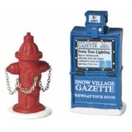 Fire Hydrant & Paper Box, Set of 2