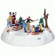 Victorian Ice Merry Go Round, Battery Operated