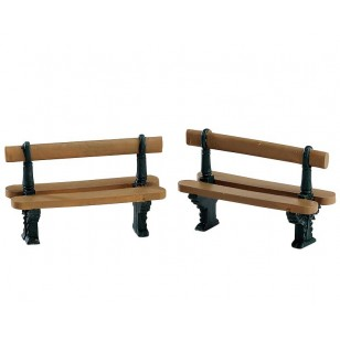 DOUBLE SEATED BENCH, SET OF 2