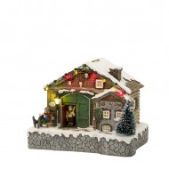 Ski Hotel, Animated, Battery Operated, Adapter Ready, was $56.99
