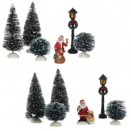 Santa Scenery, 2 Assorted Sets of 6, Was $18.99 Now