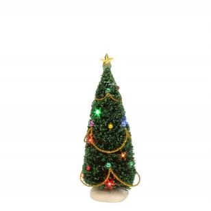 Christmas Tree with Flashing Colored Lights - Battery Operated - h15cm