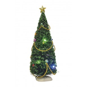 Christmas Tree with Multi Colored Lights- Battery Operated - h23cm