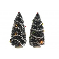 Tree with Lights, 2 pieces - Battery Operated - h15cm