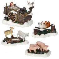 Farm Scenery, Set of 4 pieces