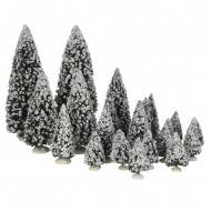 Evergreen Trees, Assorted 21 pieces