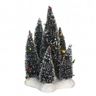 6 Cluster of Trees on Base with Multicolor LED Light, Battery Operated - 19cm