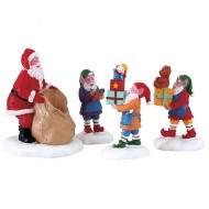 PRESENT PROCESSION, SET OF 4