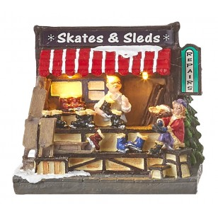 Christmas Skate and Sled Market, Battery Operated- Not Included - h10.5cm