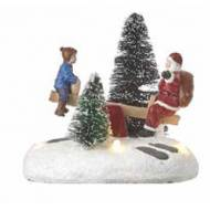 Santa Plays on the Teeter, Battery Operated- Not Included - h10.5cm