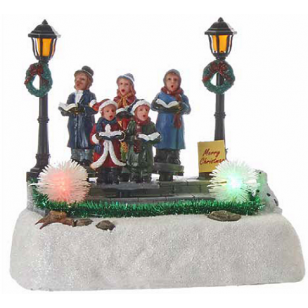 Christmas Carolers, Animated, Battery Operated - Batteries Not Included, - h14cm