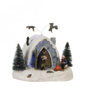 Ice Hotel, Animated, Battery Operated, Adapter 74706 Ready - h17cm