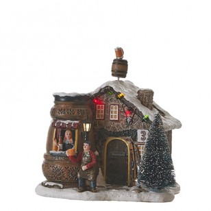 Beer House, Animated, Battery Operated, Adapter 74706 Ready