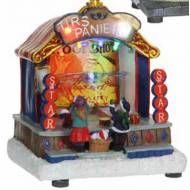 Village Fair Throwing Baskets Kiosk, Animated, Battery Operated