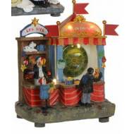 Village Fair Tossing Darts Kiosk, Animated, Battery Operated