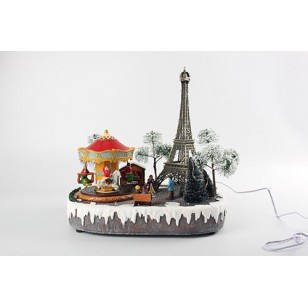 Paris at Christmas, Animated, Adapter Included, ON SALE was $99.99