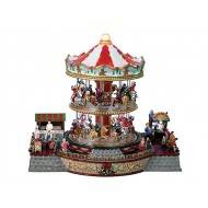 Double Decker Carousel, Animated, Adapter Included