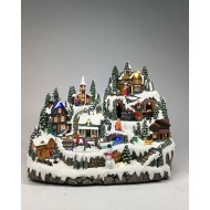 Christmas Valley Village, Animated, Music, Adapter Included