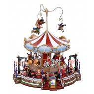 Christmas Grand Carousel, Animated, Adapter Included