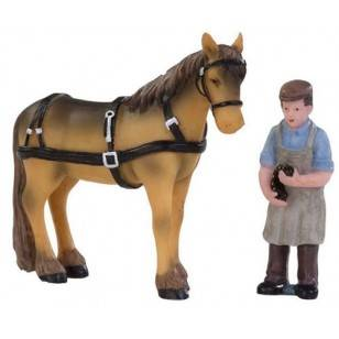 Farrier with Horse, Set of 2