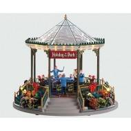 HOLIDAY GARDEN GREEN BANDSTAND, WITH 4.5V ADAPTOR