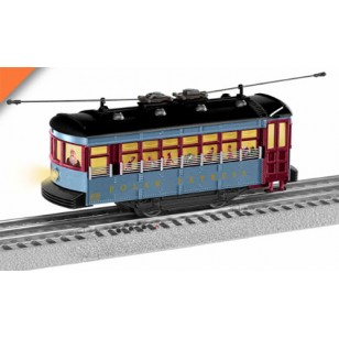 THE POLAR EXPRESS TROLLEY SET WITH ANNOUNCEMENT TRACK O SCALE
