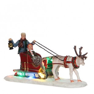 Reindeer Sleigh, B.O., Adapter Ready