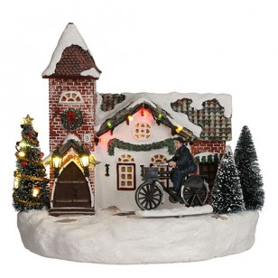 Christmas Church, Animated, B.O. Adapter Ready