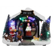 Santa's Christmas Beer Stall BAttery  Operated
