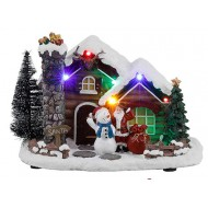 Santa's Log Cabin Battery Operated