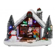 Santa's Gift Shop Battery Operated