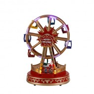 Fairground Christmas Ferris Wheel, Animated, Music, Battery Operated, was $69.99