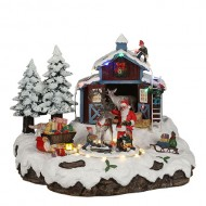 Santa's Reindeer Stables, Animated, Adapter Included