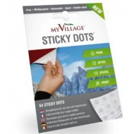 STICKY DOTS, ADHESIVE DOTS 64PC